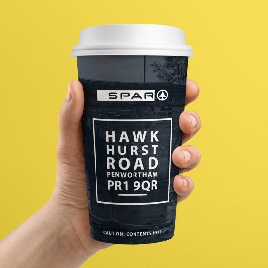 spar hawkhurst road coffee cup