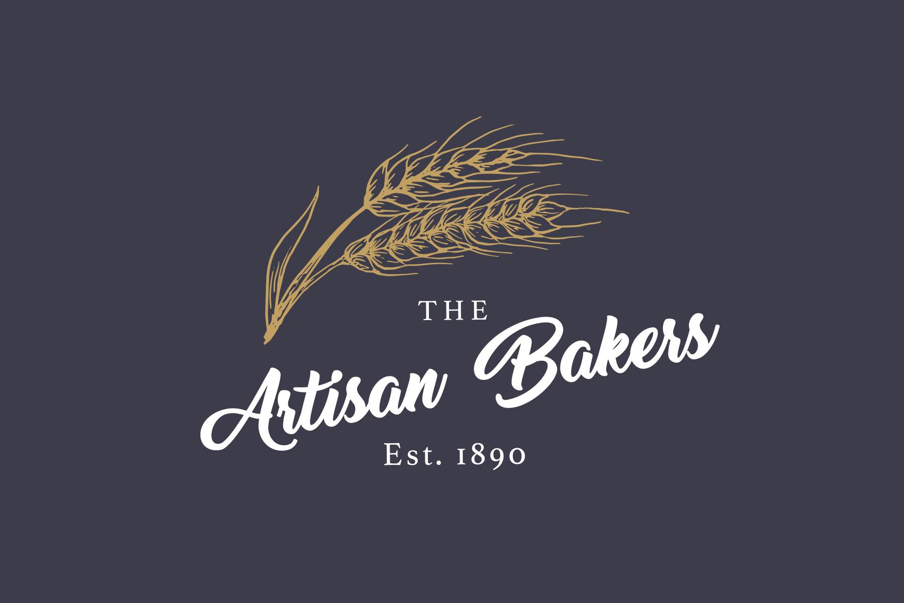 the artisan bakers logo blue