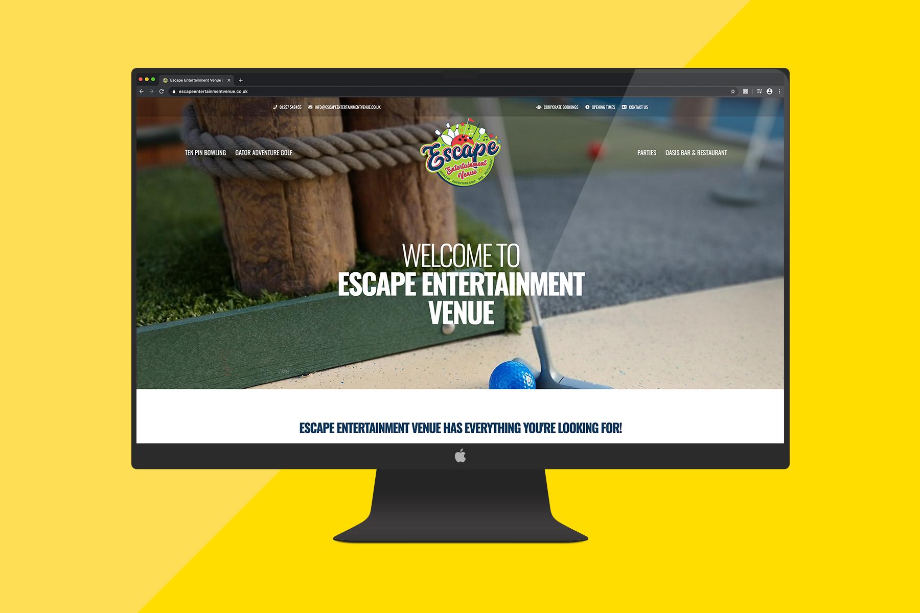 escape entertainment home page