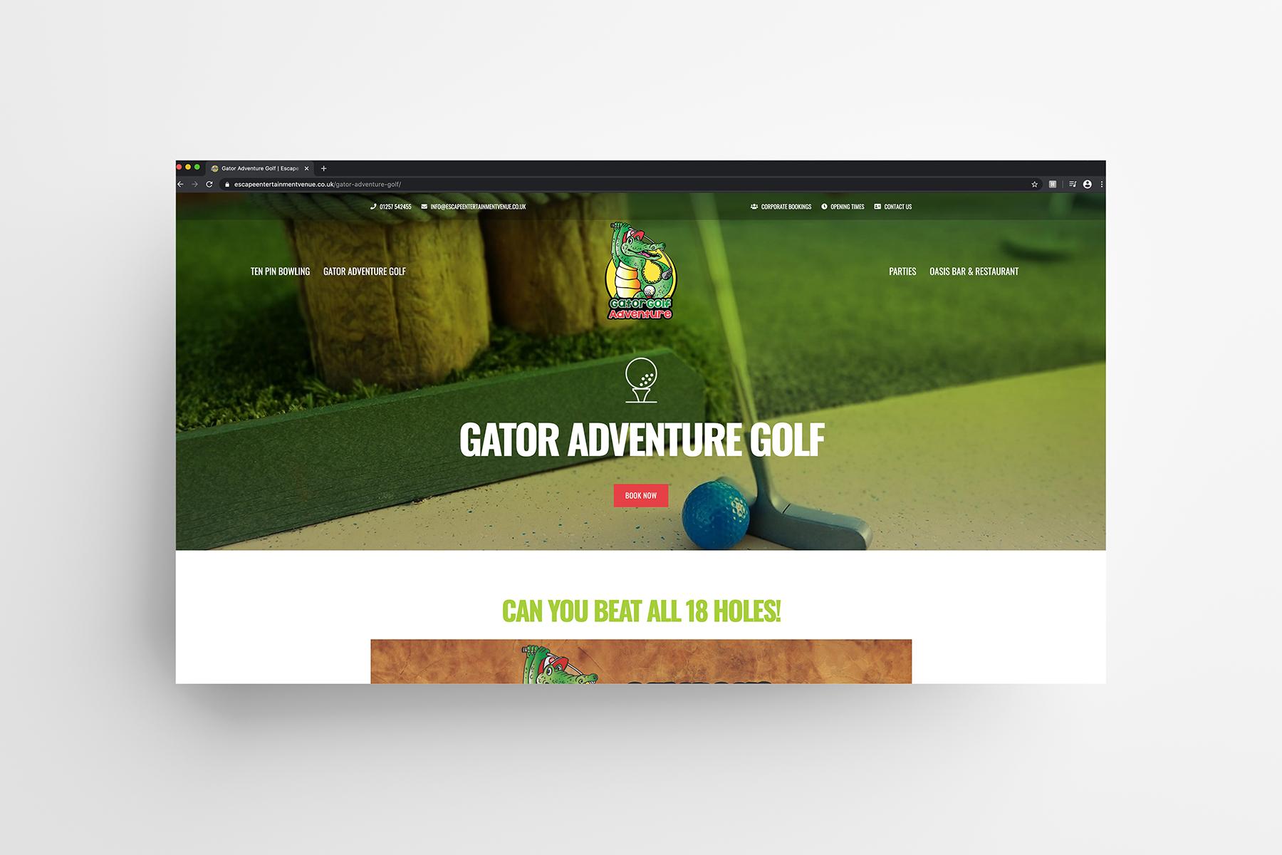 escape entertainment gator golf