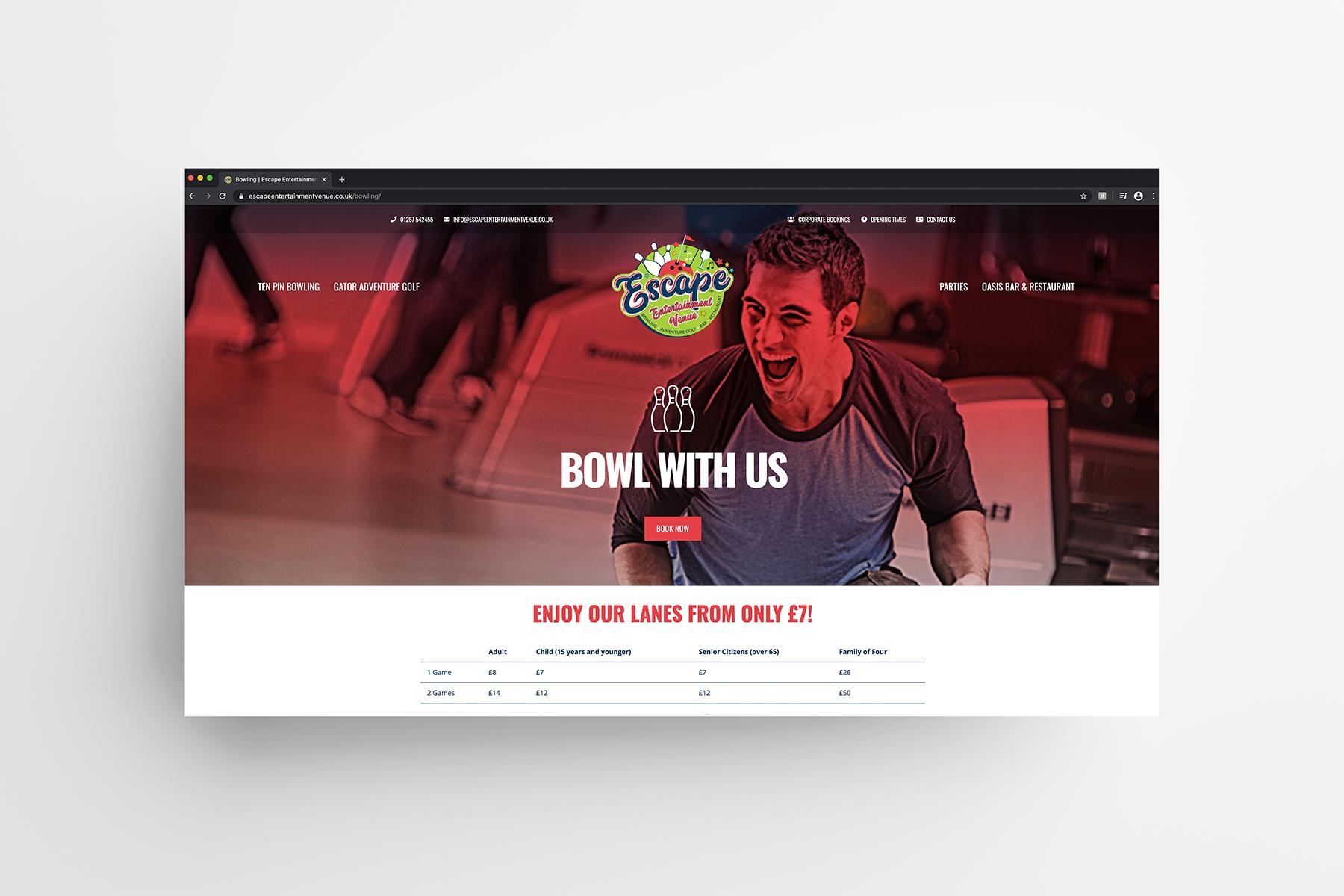 Escape Website Page