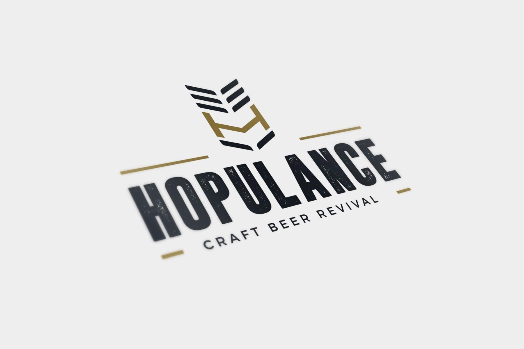 Hopulance logo mock-up