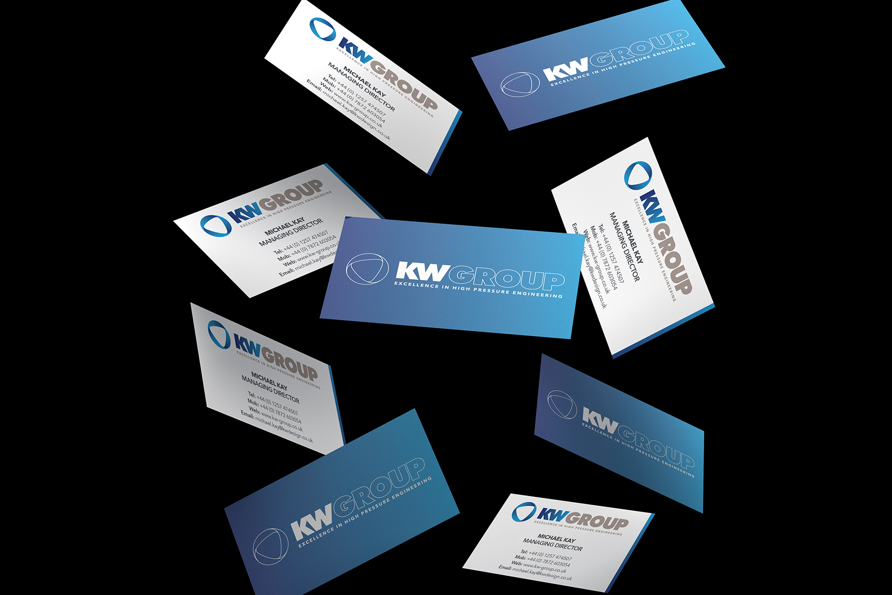 KW Group floating business cards