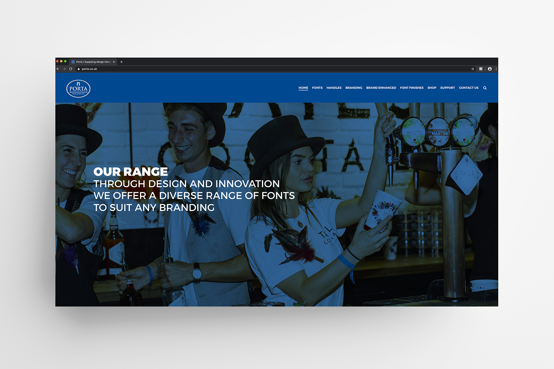 Porta Website Design and Font Photography