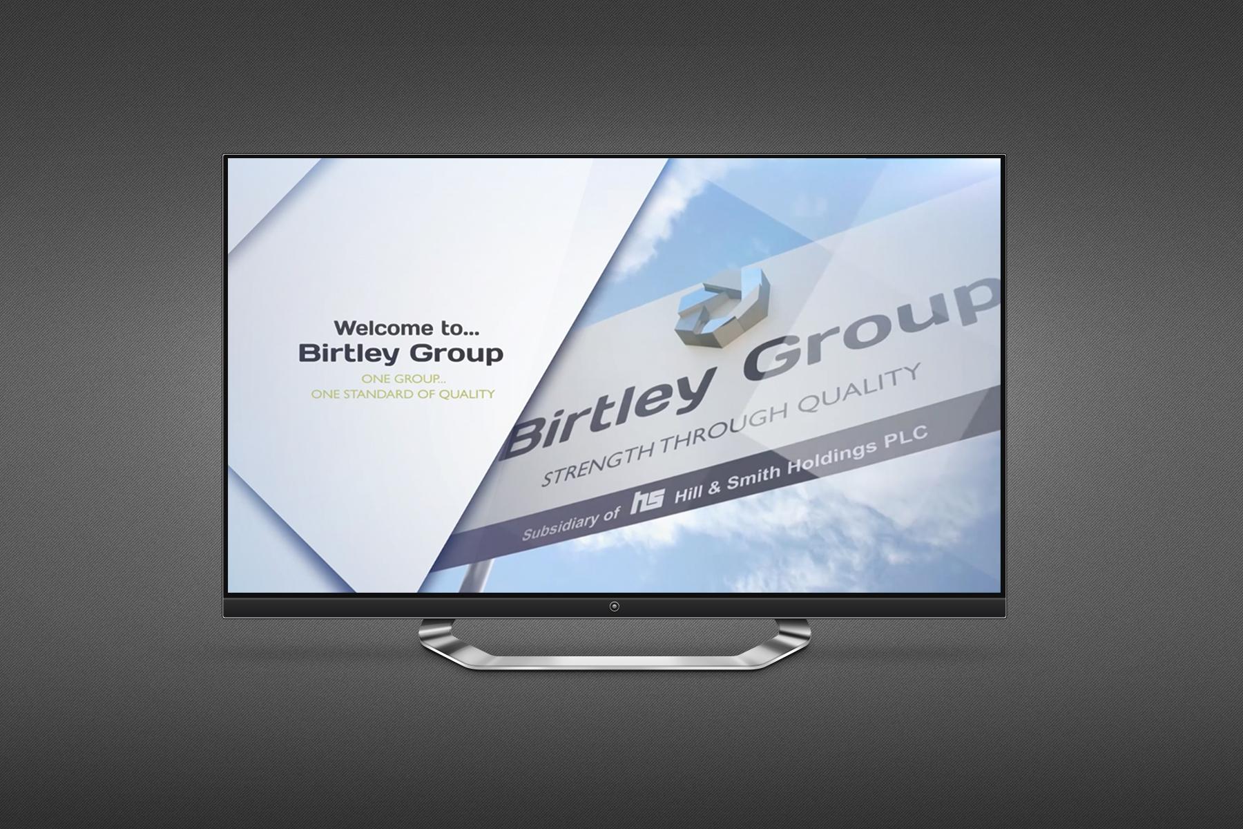 birtley group on screen advert