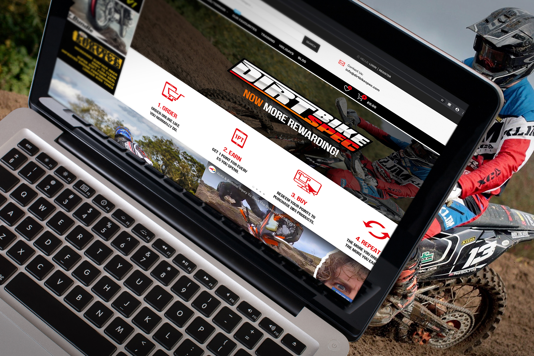 dirt bike spec website home page