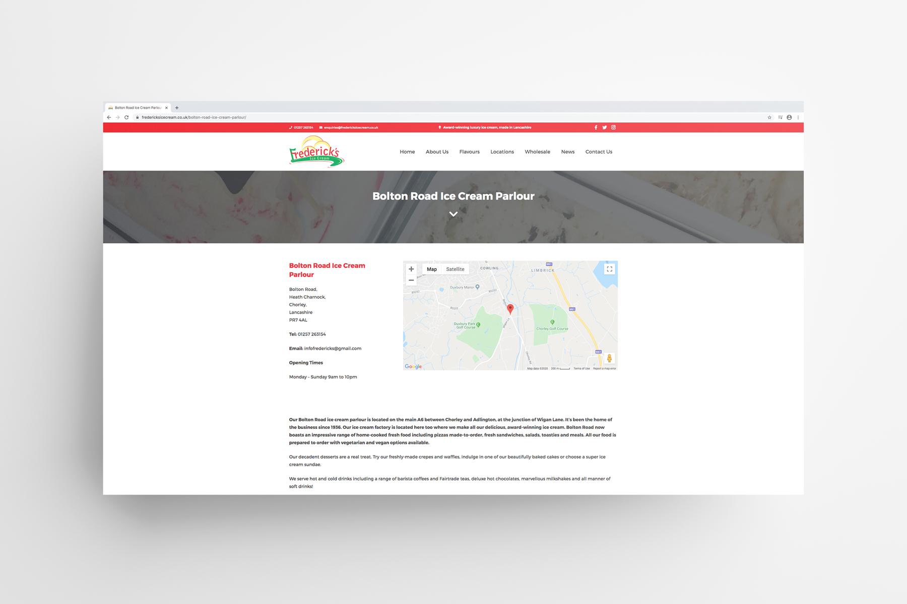 Fredericks Website Design