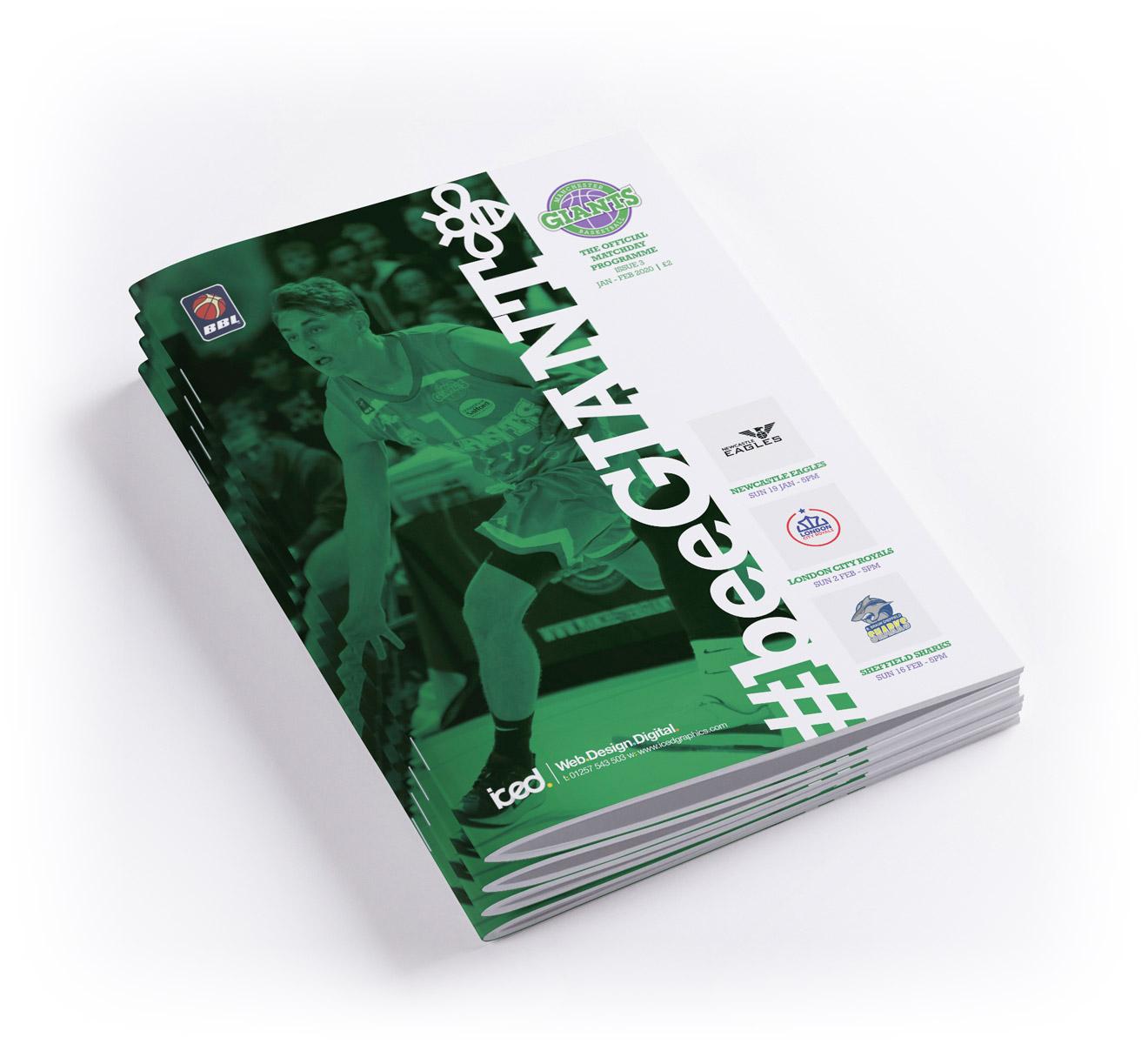 manchester giants programme design & print